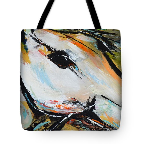 Tote Bag featuring the painting Eye Of The Beholder by Cher Devereaux