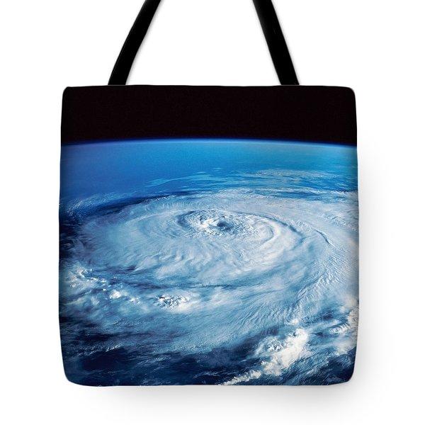 Eye Of The Hurricane Tote Bag by Stocktrek Images