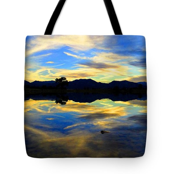 Tote Bag featuring the photograph Eye Of The Mountain by Eric Dee