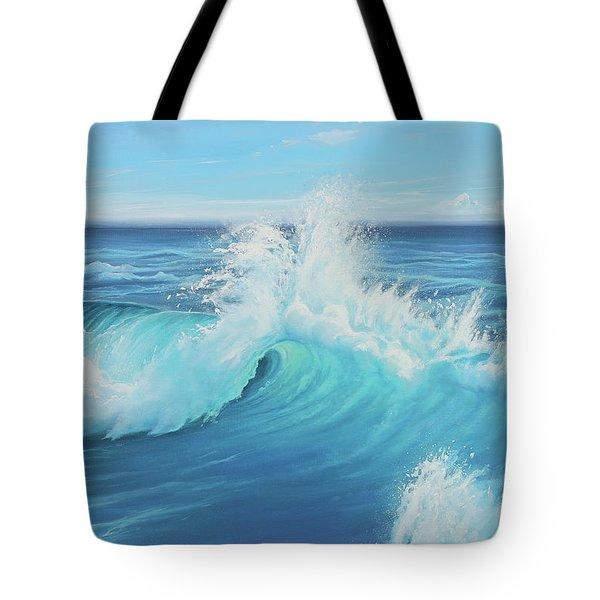 Eye Of The Ocean Tote Bag by Joe Mandrick