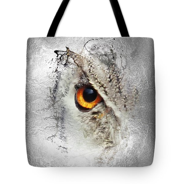 Tote Bag featuring the photograph Eye Of The Owl 1 by Fran Riley