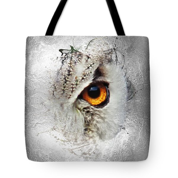 Tote Bag featuring the photograph Eye Of The Owl 2 by Fran Riley