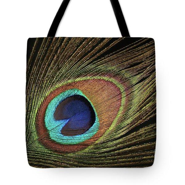 Eye Of The Peacock #11 Tote Bag