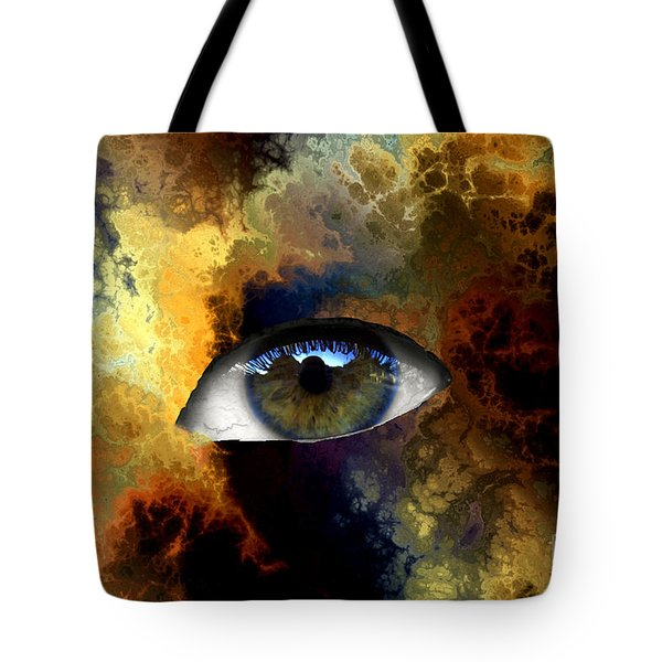 Eye Of The Storm Tote Bag by John Rizzuto