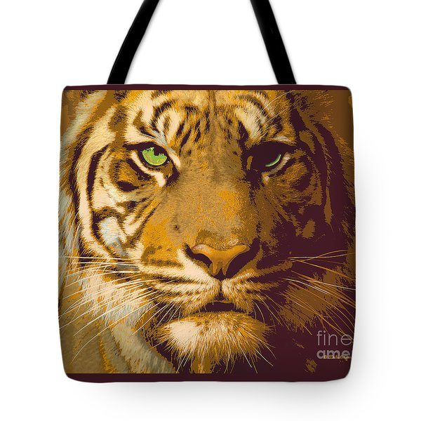 Eye Of The Tiger Animal Portrait  Tote Bag