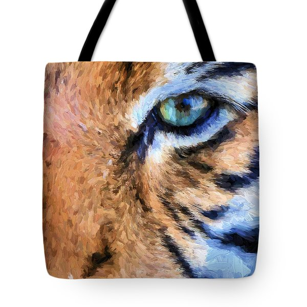Eye Of The Tiger Tote Bag by JC Findley