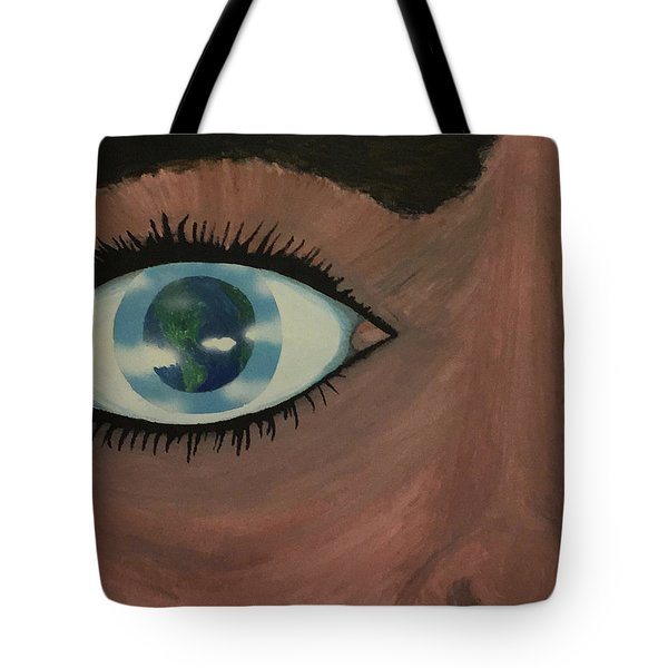 Tote Bag featuring the painting Eye Of The World by Thomas Blood