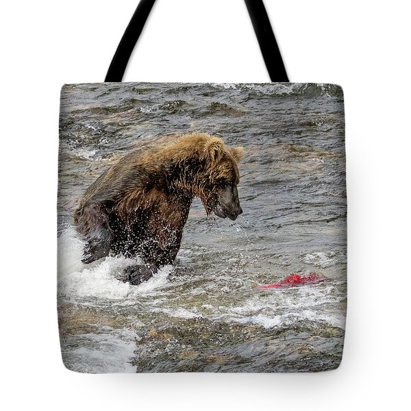 Eye On The Sockeye Tote Bag
