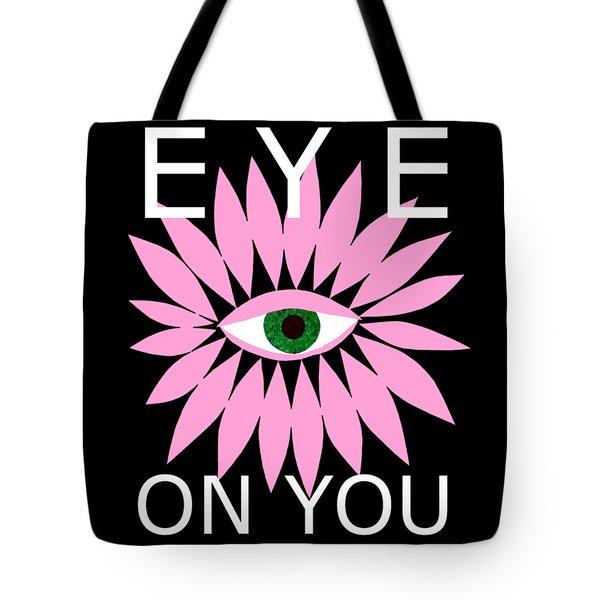 Eye On You - Black Tote Bag