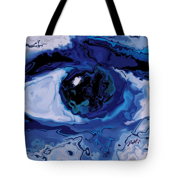 Tote Bag featuring the digital art Eye by Rabi Khan
