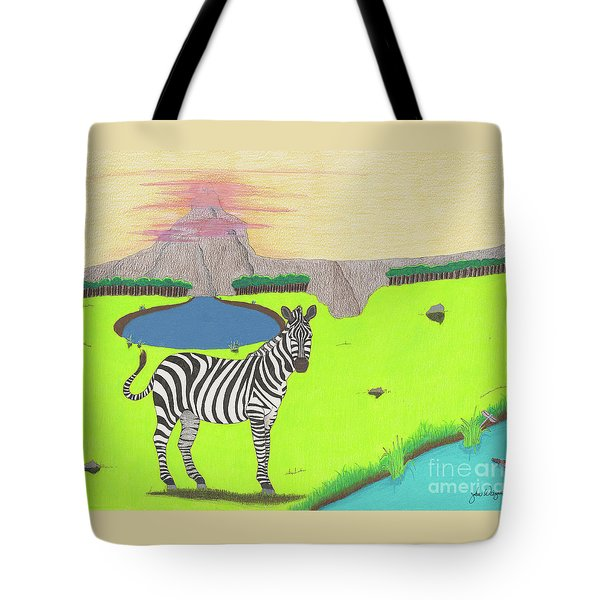 Tote Bag featuring the drawing Eye See You by John Wiegand