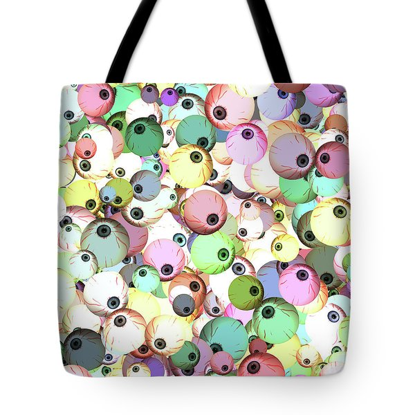 Tote Bag featuring the digital art Eyeballs by Methune Hively