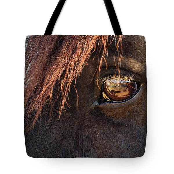 Eyeing The Reflection Tote Bag