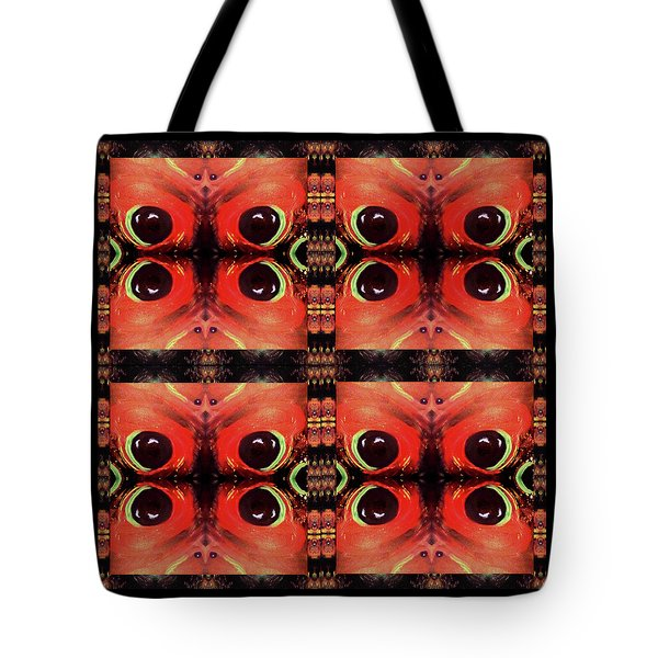 Tote Bag featuring the painting Eyes 8 Four Square by Michelle Audas