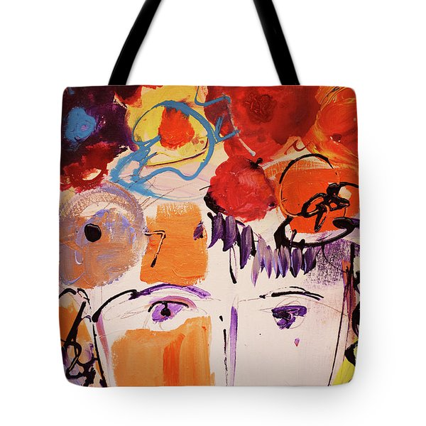 Eyes And Flowers Tote Bag