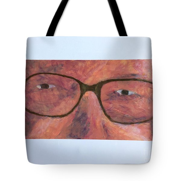 Tote Bag featuring the painting Eyes by Donald J Ryker III