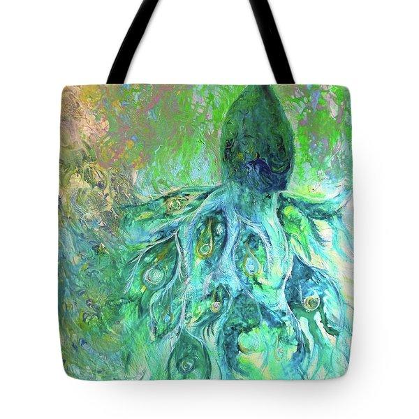 Eyes Of Eden Peacock Tote Bag