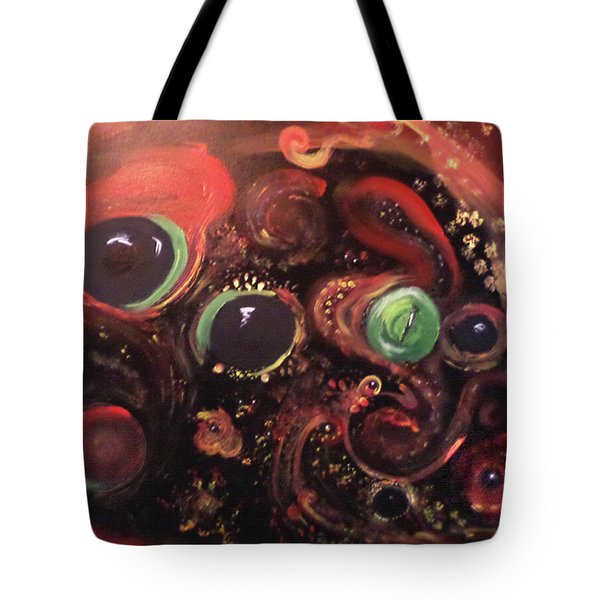 Tote Bag featuring the painting Eyes Of The Universe # 5 by Michelle Audas