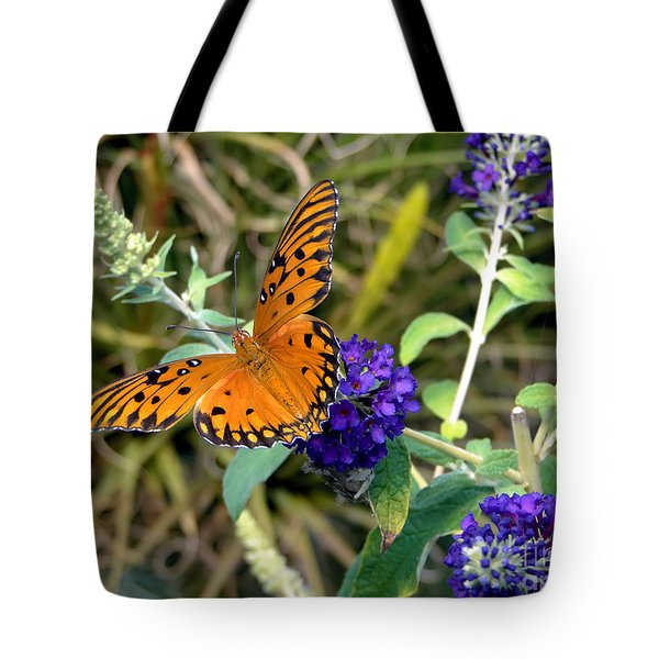 Tote Bag featuring the photograph Eyes On A Butterfly by Sue Melvin