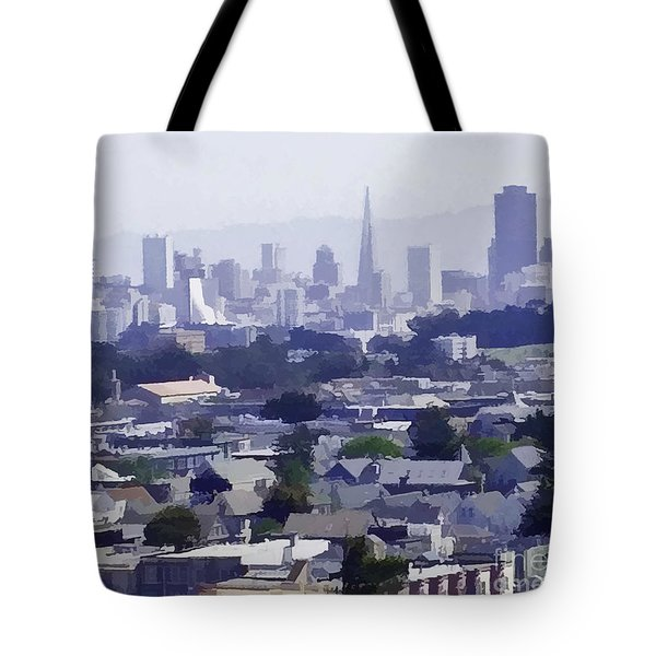 Looking East Toward San Francisco Tote Bag