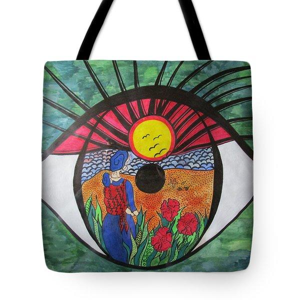Eyewitness Tote Bag