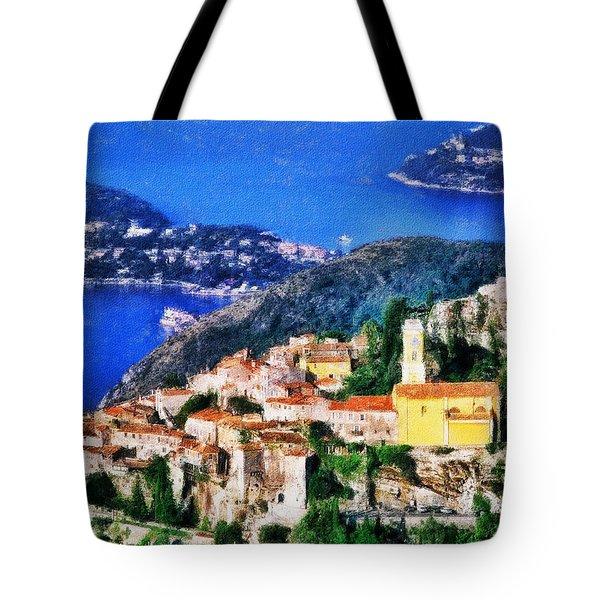 Eze And Cap Ferrat Tote Bag