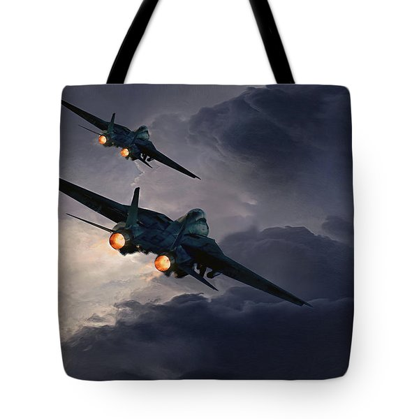 F-14 Flying Iron Tote Bag