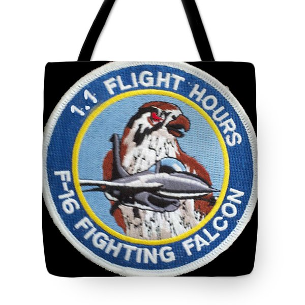 F-16 Ride Patch Tote Bag