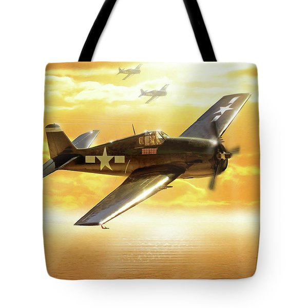 F-6f Hellcat Pacific Sunrise Tote Bag