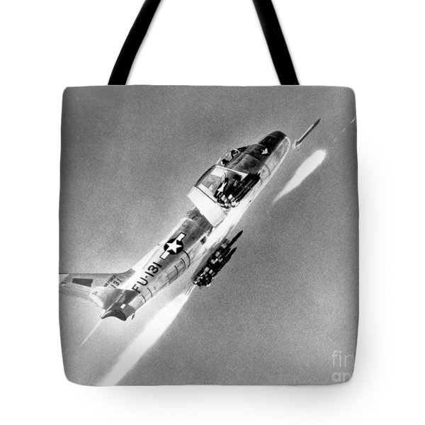 F-86 Sabre, First Swept-wing Fighter Tote Bag