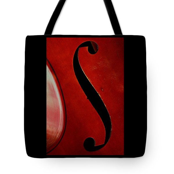 Tote Bag featuring the photograph F Hole by Chris Berry