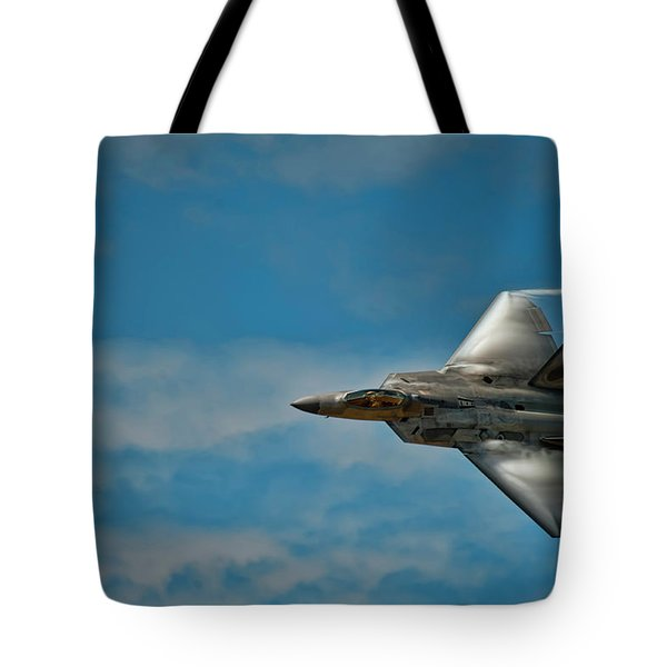 F22 Raptor Steals The Show Tote Bag