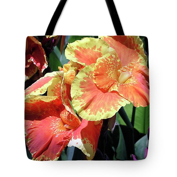 F24 Cannas Flower Tote Bag by Donald k Hall