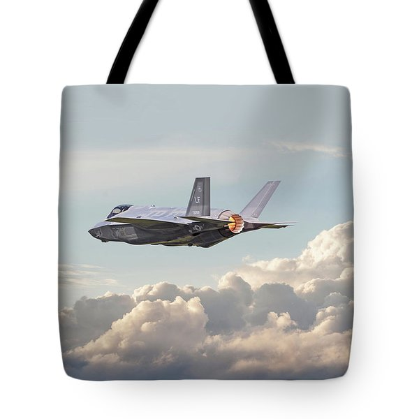 Tote Bag featuring the photograph F35 -  Into The Future by Pat Speirs