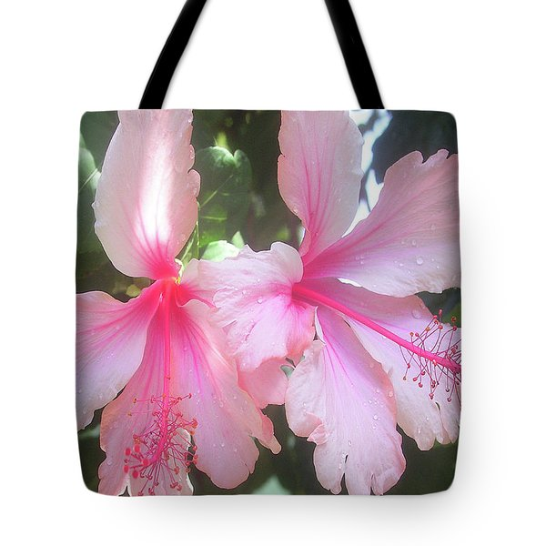 F4 Hibiscus Flowers Hawaii Tote Bag by Donald k Hall