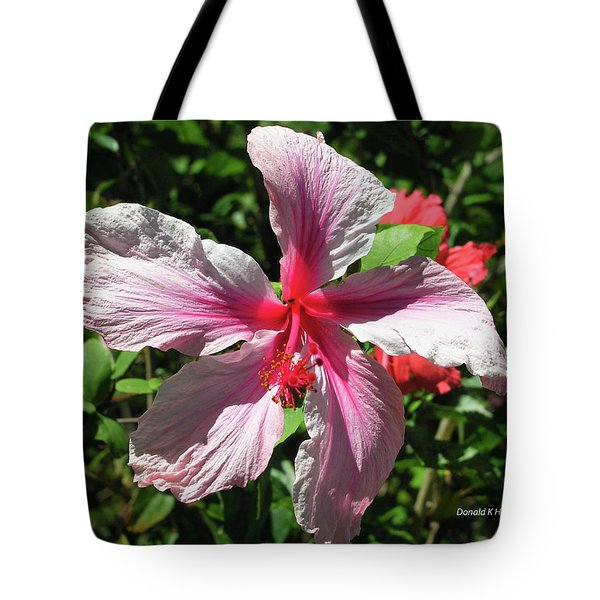 F5 Hibiscus Flower Hawaii Tote Bag by Donald k Hall