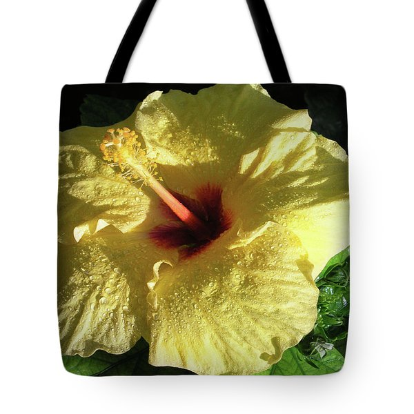 F9 Yellow Hibiscus Tote Bag by Donald k Hall