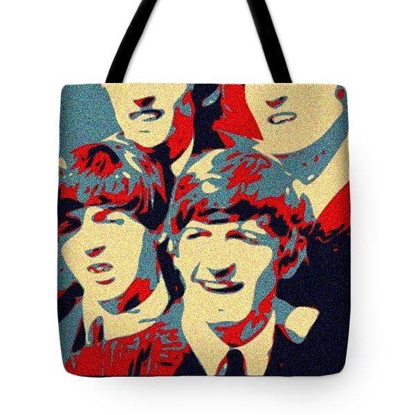 Fab Four Tote Bag by Paul Van Scott