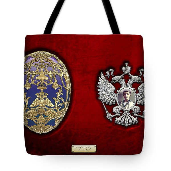 Faberge Tsarevich Egg With Surprise Tote Bag by Serge Averbukh