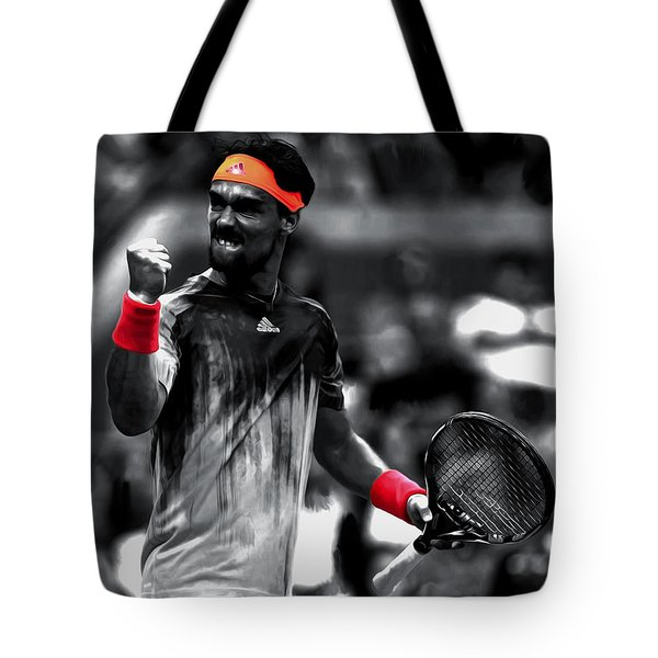 Fabio Fognini Tote Bag by Brian Reaves