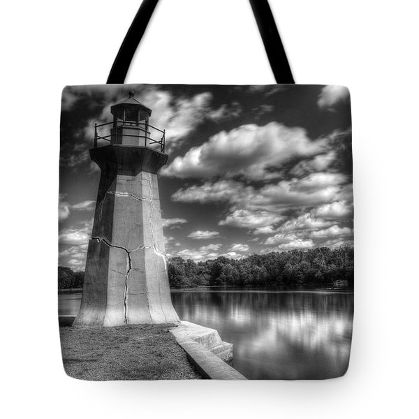 Fabyan Lighthouse On The Fox River Tote Bag