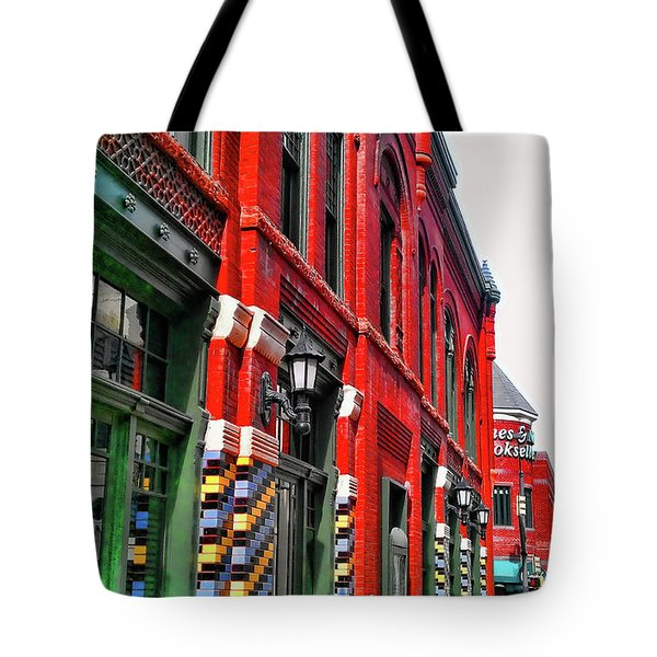 Facade Of Color Tote Bag by Douglas Barnard