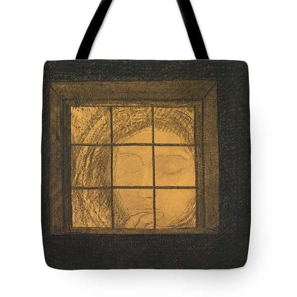 Face Behind A Window  Tote Bag