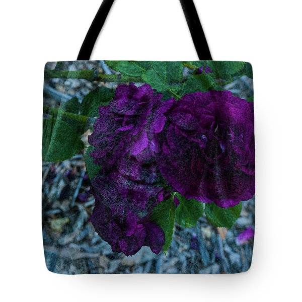 Face In A Rose Tote Bag