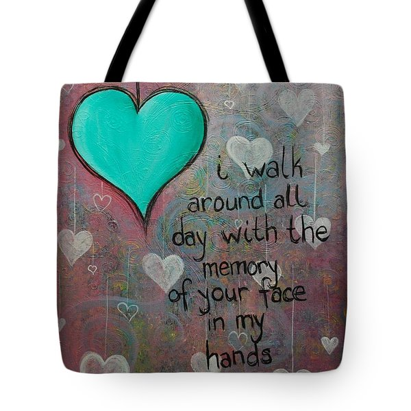 Face In My Hands Tote Bag