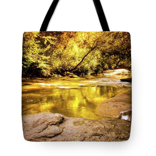 Face In The Water Tote Bag