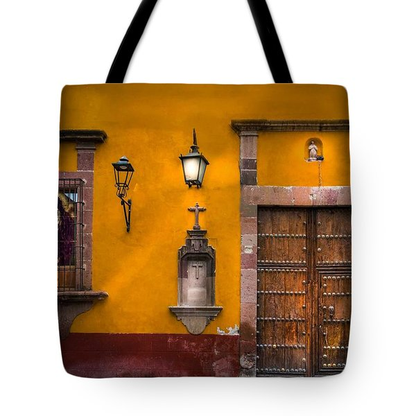 Face In The Window Tote Bag