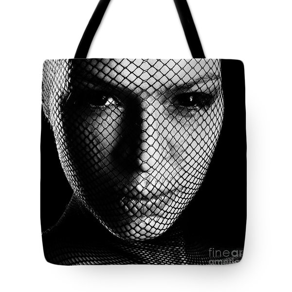 Face Lacemasked #4719 Tote Bag
