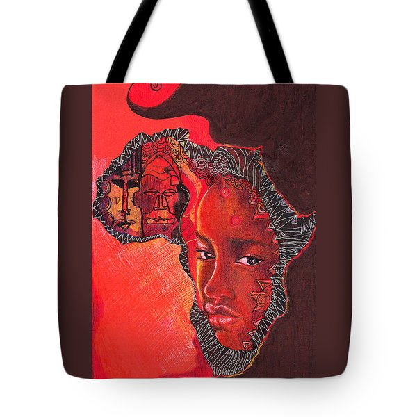 Face Of Africa Tote Bag