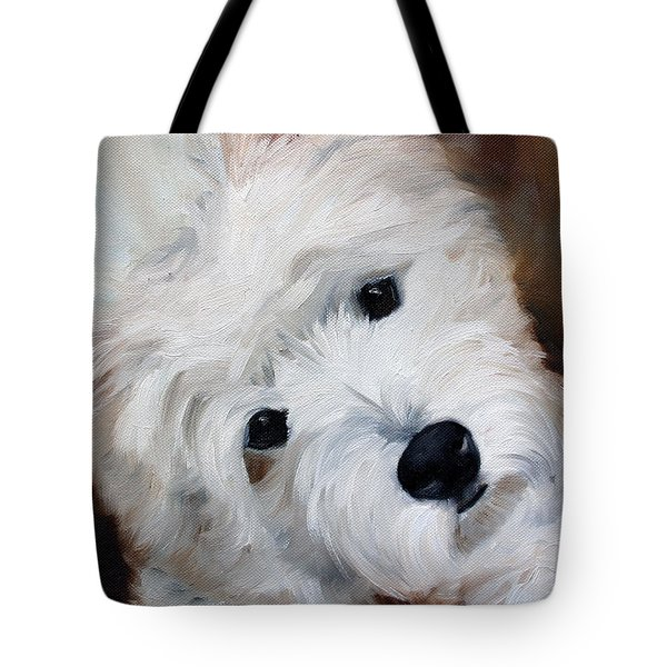 Face Of Endearment Tote Bag by Mary Sparrow
